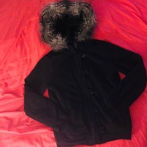 Girl's GAP Super Soft Faux Fur lined Jacket/Hoodie